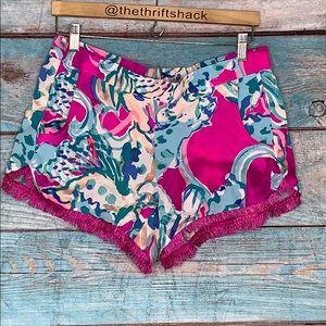 Lilly Pulitzer Fringe Trimmed Shorts Size Medium
